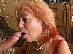 Blonde aged dame on her knees licking and swallowing young hard dirk 0 mature sex pics