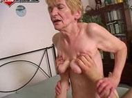See this granny have fun with a younger cock